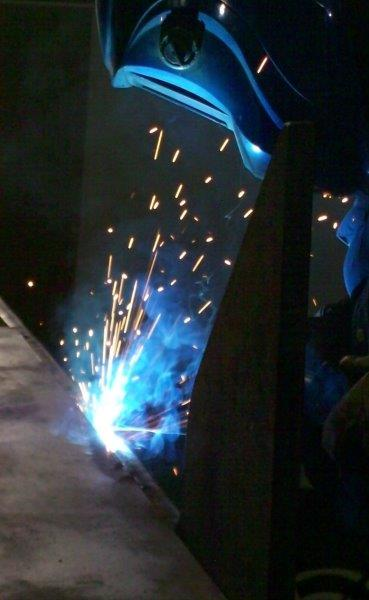 Precision welding by ISM Manufacturing employee