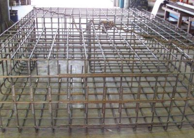 Deformed bar bent and fabricated to form a cage to reinforce concreting