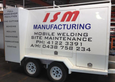 Designed and manufactured by ISM Manufacturing. We can build custom trailers to suit your needs