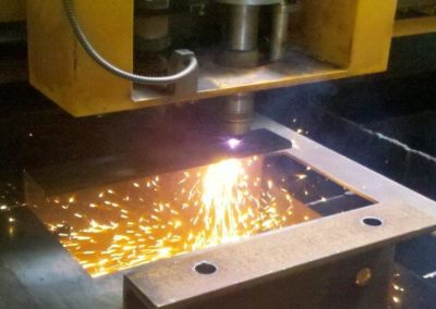 CNC plasma cutting produces a high quality finish comparable with laser cutting