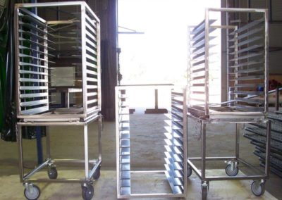 Pie racks manufactured to customer specifications to suit their bakeries needs