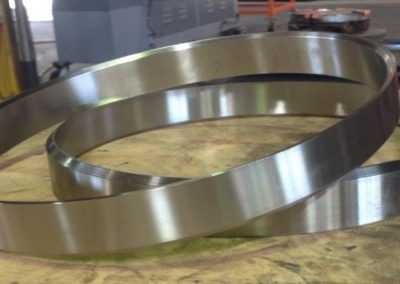 Stainless steel machined to form wear rings for use in passenger trains