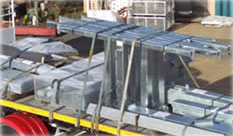 Galvanised components for Ergon Energy