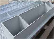 Powdercoated ducting for passenger trains