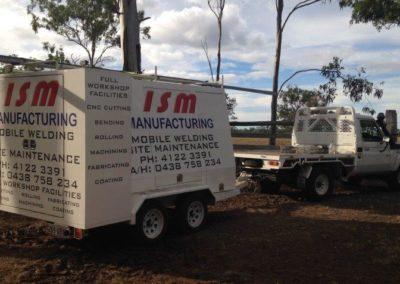 ISM Manufacturing offers a fully mobile workshop facility that allows us to complete fabrication repairs, maintenance and installations across Queensland