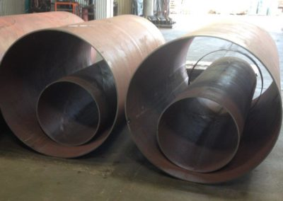 Cut and rolled plate to be used in air vent ducting
